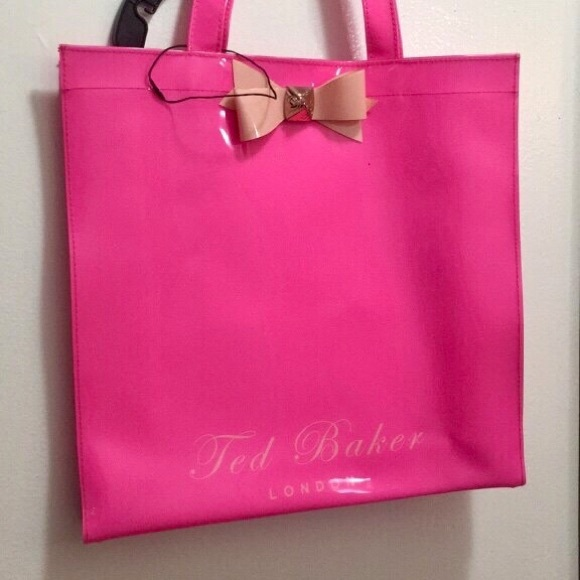 Ted Baker London Handbags - Neon pink Ted Baker tote
